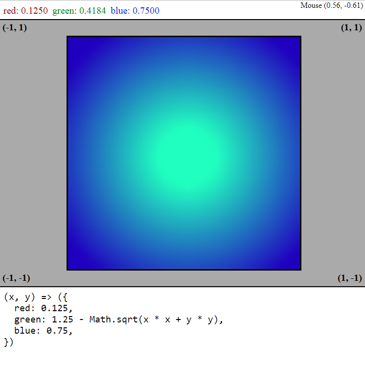 Screenshot of the color graph webpage